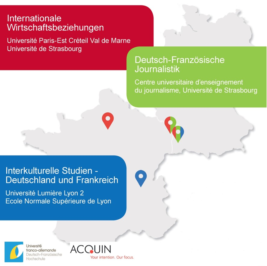 Karte Studiengänge